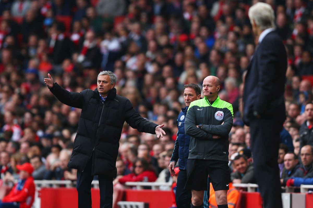 Jose Mourinho and Arsene Wenger likely won't be sending Christmas cards to one another this year. Odds are they get into it a few times on Saturday morning.