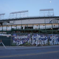 The west side of the ballpark, from Clark Street