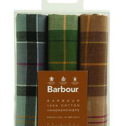 "Men's cotton <a href=""http://www.barbour.com/us/mens-clothing/accessories/accessories/handkerchief"">Tartan Handkerchiefs</a> ($35)."