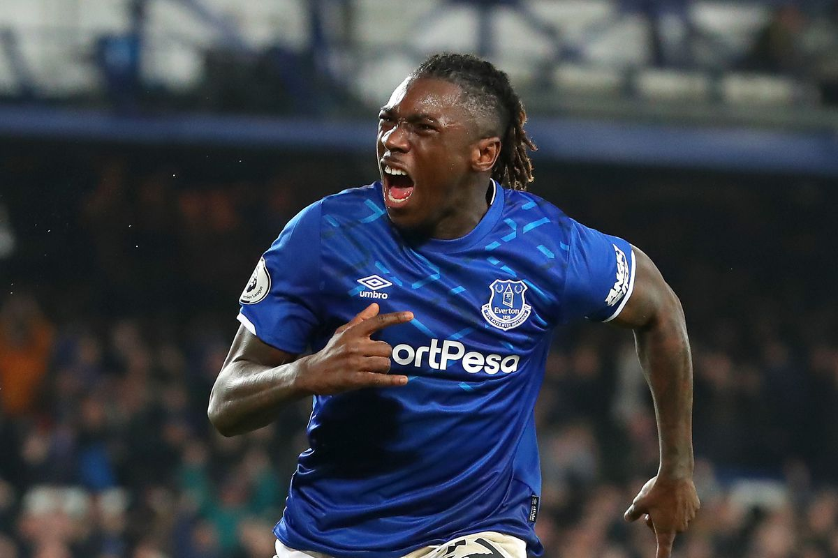 Watch Moise Kean Scores His First Everton Goal Royal Blue Mersey