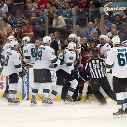 Ovechkin Center of Sharks Attention