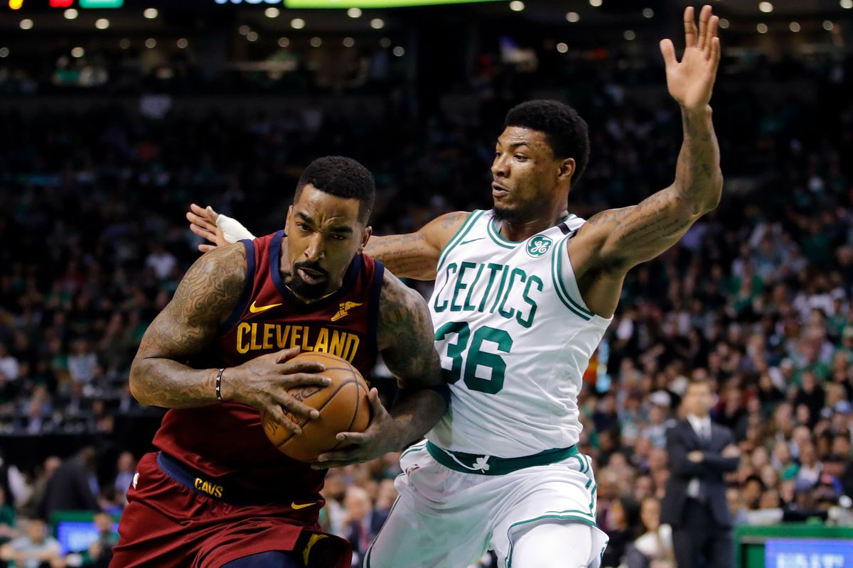 Marcus Smart almost got into a fight with J.R. Smith in defense of Al  Horford cc3827bad