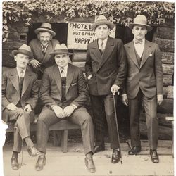 This vintage silver print photograph of Al Capone and his associates at Hot Springs, Arkansas is now available for auction at Witherell's. The auction goes live on Oct. 8, 2021.