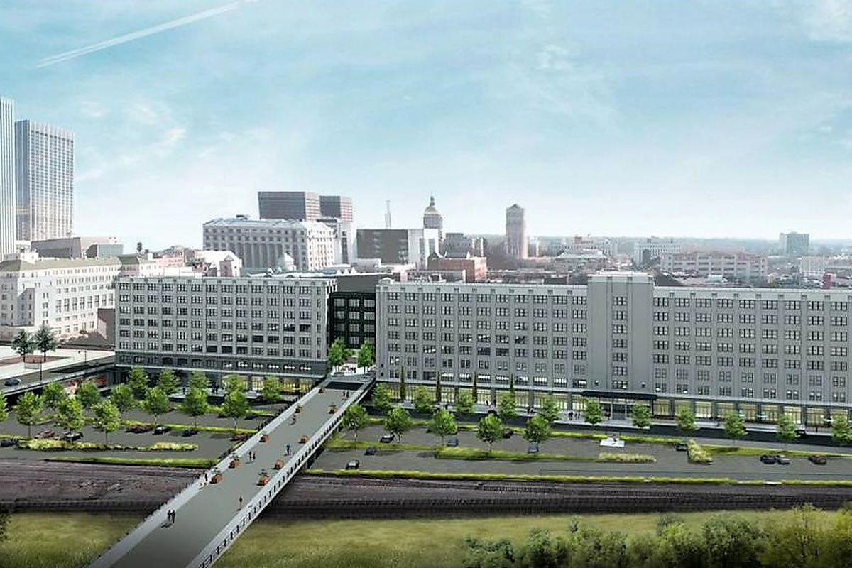 a rendering of the renewed Norfolk Southern building downtown