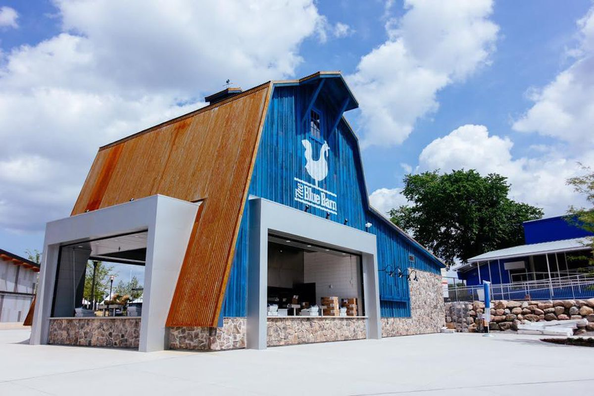 The Blue Barn at the Minnesota State Fair