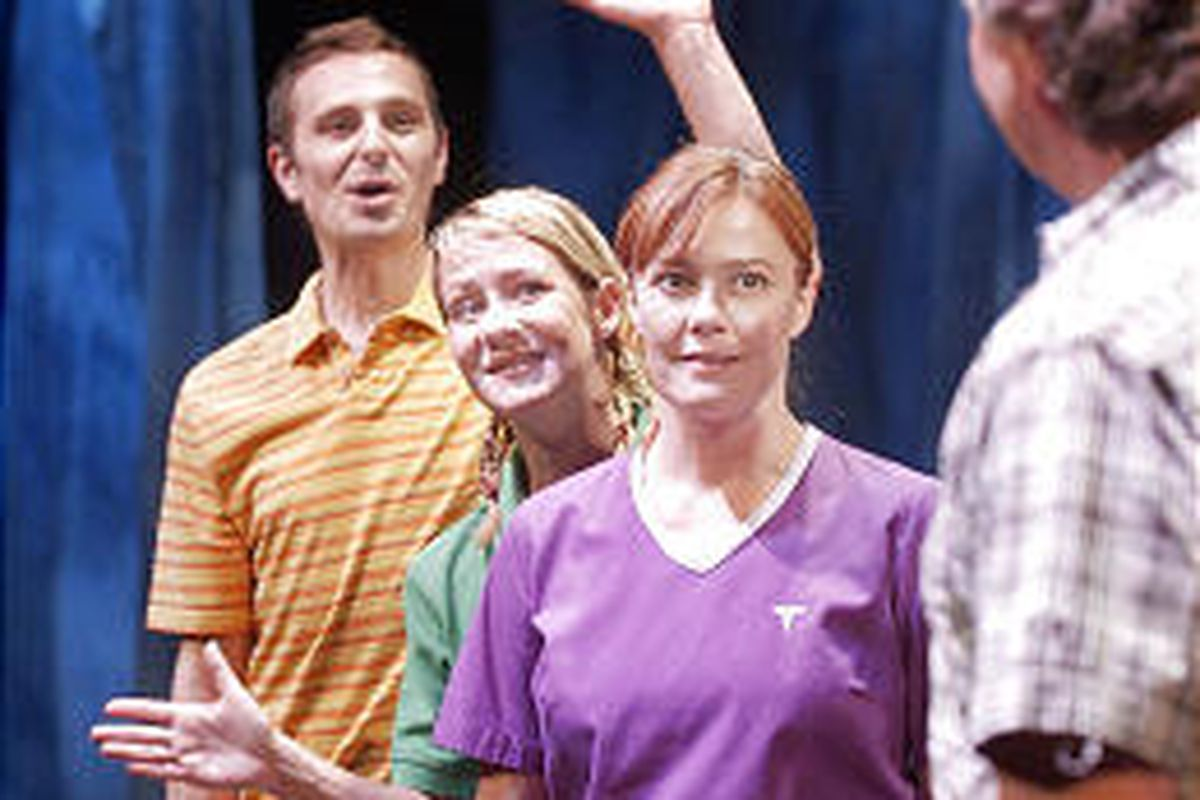 """Robert Scott Smith, Brenda Sue Cowley and Jeanette Puhich in """"Swimming in the Shallows."""""""