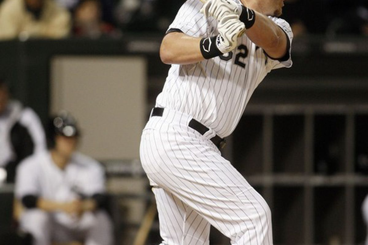 Adam Dunn provided the biggest hit of the night, and at home, to boot.