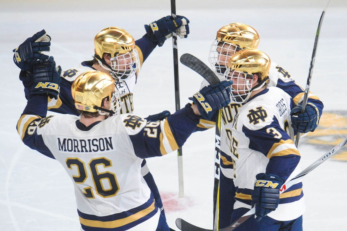 0ce392ac Frozen Four 2018 results: Notre Dame wins on goal with 4 seconds ...