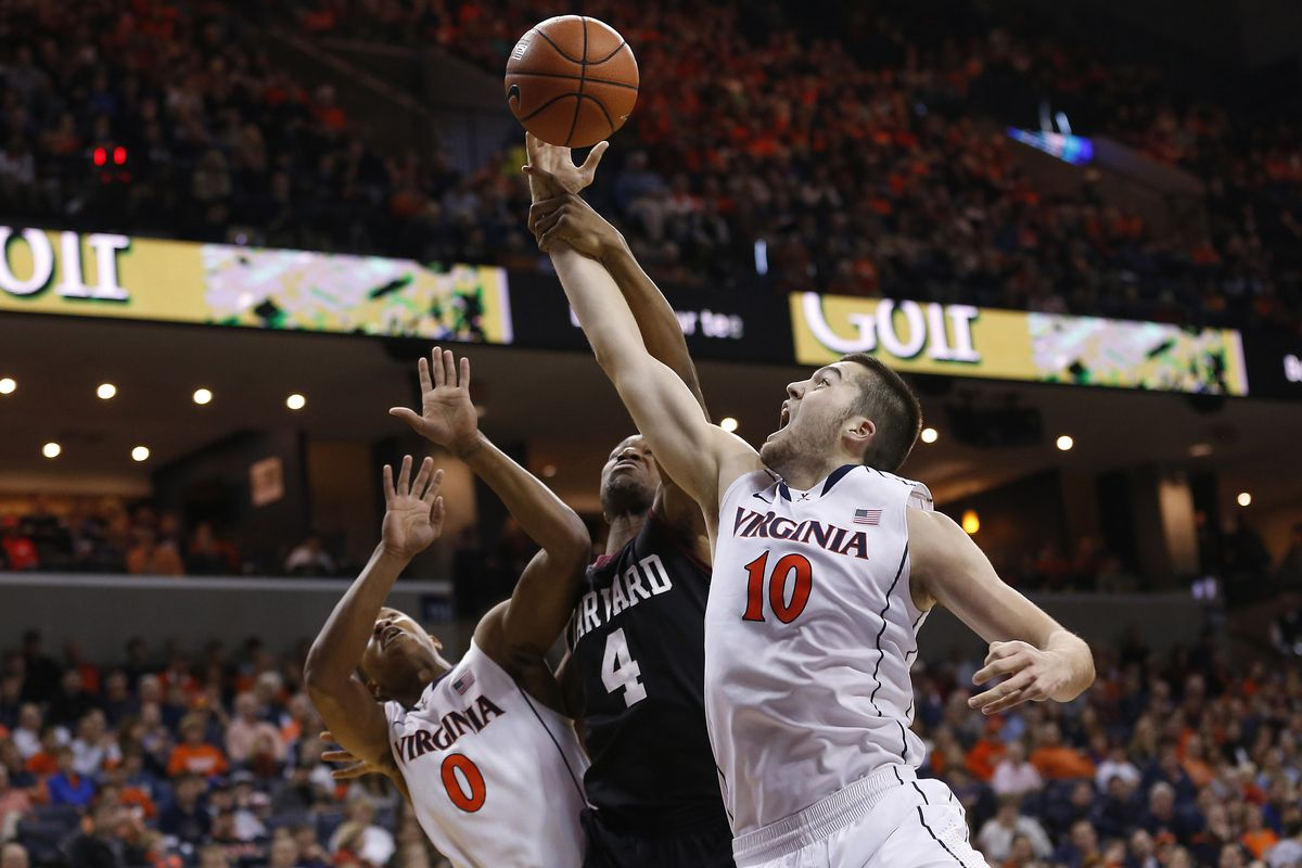 Mike Tobey was one of several stars in the Hoos dismantling of Harvard.