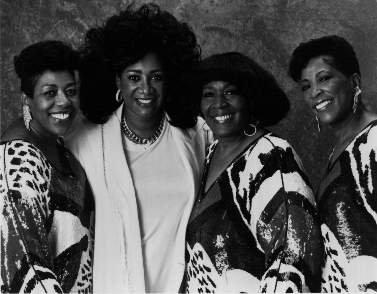 """Patti LaBelle (second from left) with the Barrett Sisters. The group appeared on the 1991 WTTW-TV special """"Going Home to Gospel"""" with LaBelle."""