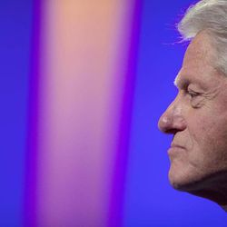 Former U.S. President Bill Clinton listens during the Clinton Global Initiative, Sunday, Sept. 23, 2012, in New York. Participants, consisting of more than 50 current or former heads of state, will attend three days of sessions aimed at solving pressing world problems.