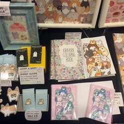 Cats, Corgis, and coloring books at Kira Kira Doodles.