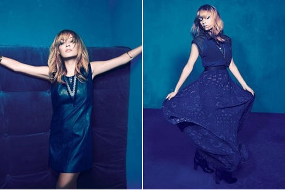 """Richie models her wares for the campaign, via <a href=""""http://www.luckymag.com/blogs/luckyrightnow/2012/08/Nicole-Richie-for-Impulse-at-Macys-Heres-the-Full-Lookbook#slide=2"""">Lucky</a>"""