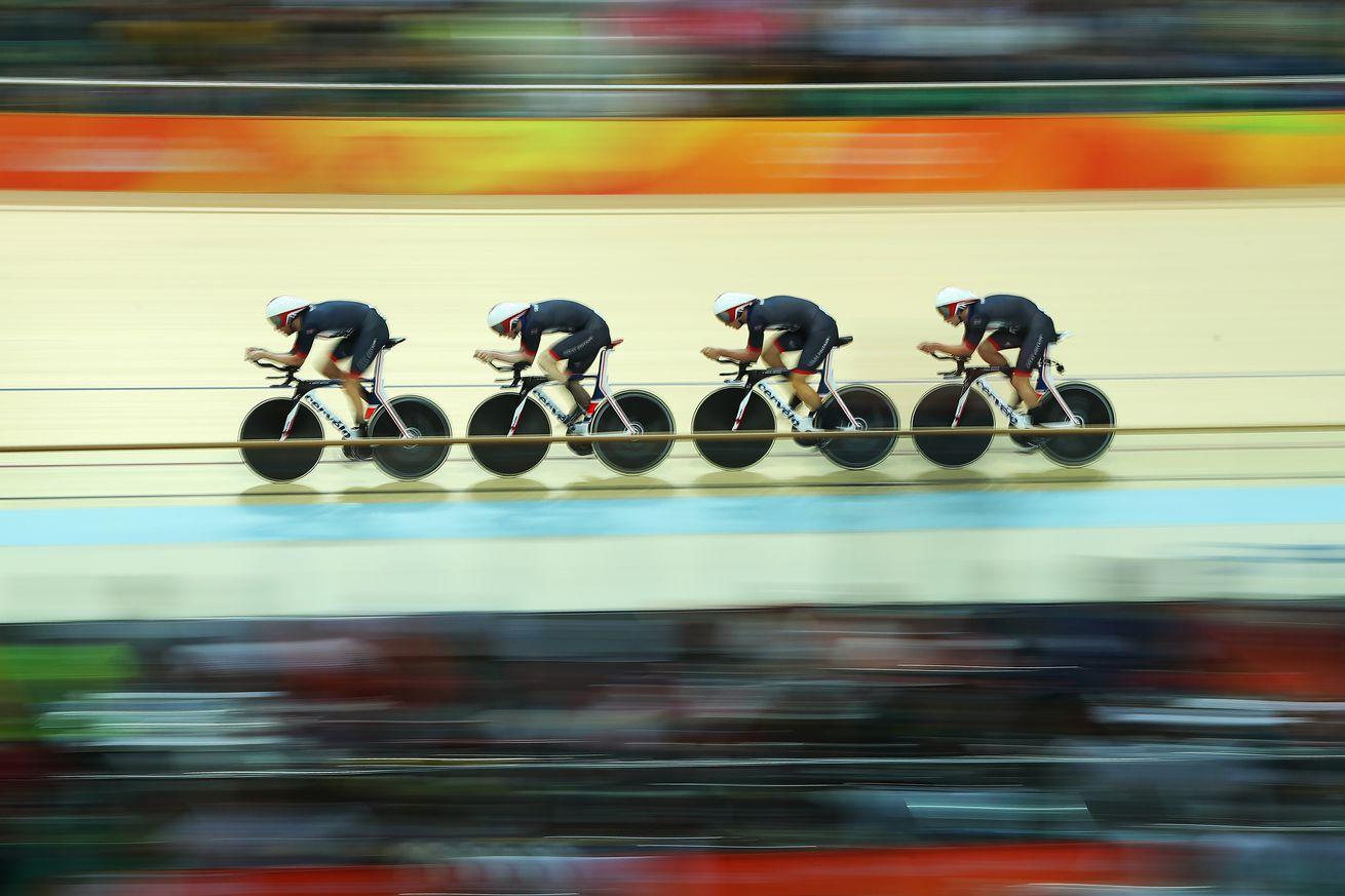 Rio Olympics, Team Pursuit: Ed Clancy, Steve Burke, Owain Doull and Bradley Wiggins