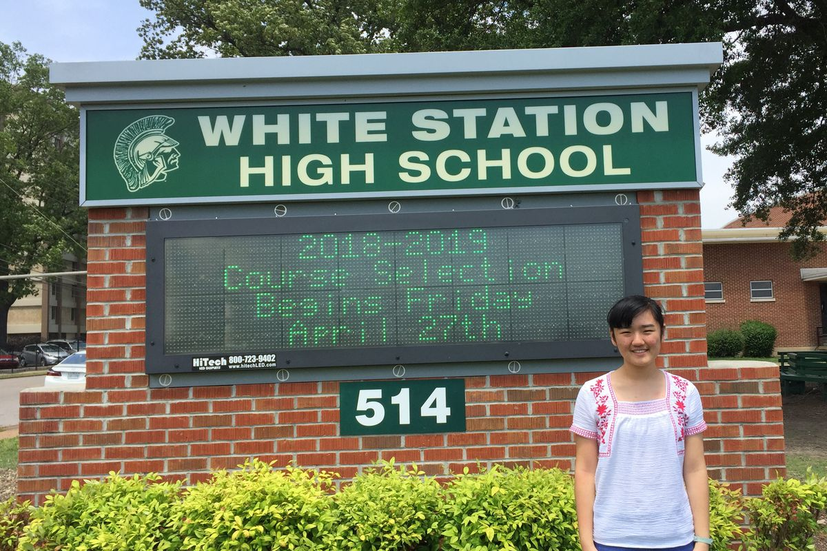 Rachel Fan was one of two Tennessee students named U.S. Presidential Scholars this week, a designation given by the U.S. Department of Education to 161 students across the country based on their test scores and extracurricular activities.