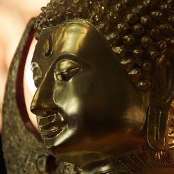 A Buddha statue as part of the alter in the Wat Dhammagunaram Buddhist Temple in Layton, Utah, June 8, 2008.