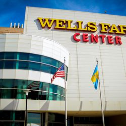 The outside of the Wells Fargo Center - 2017