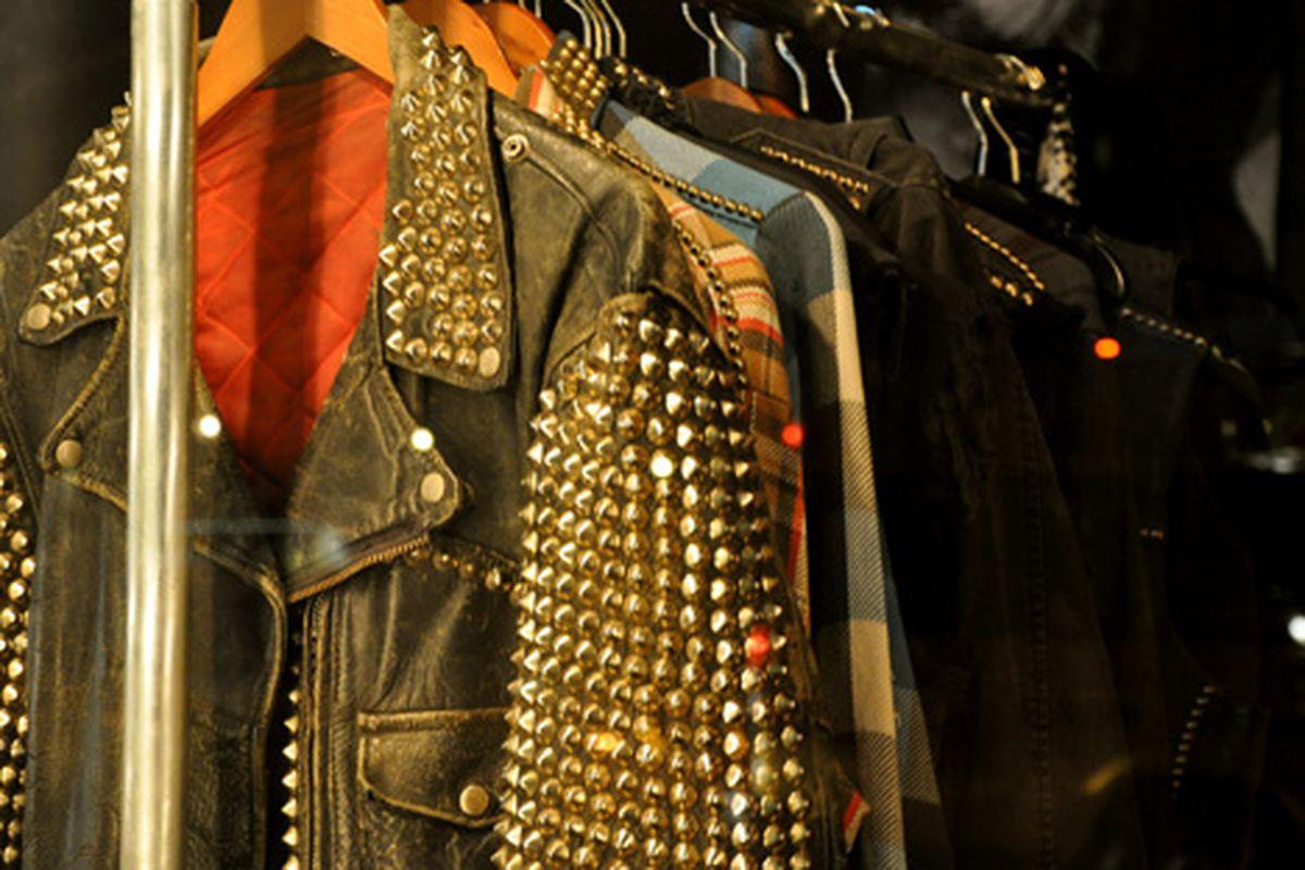 "Studded jacket via <a href=""http://www.flickr.com/photos/essgee/4408106071/in/pool-312691@N20"">EssG</a>/Racked Flickr Pool"