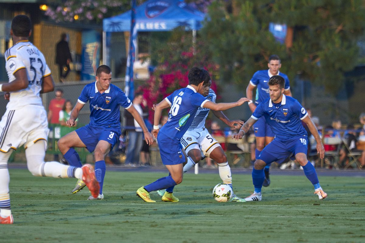 Blues have the hustle but not enough of the final product vs. Galaxy II.