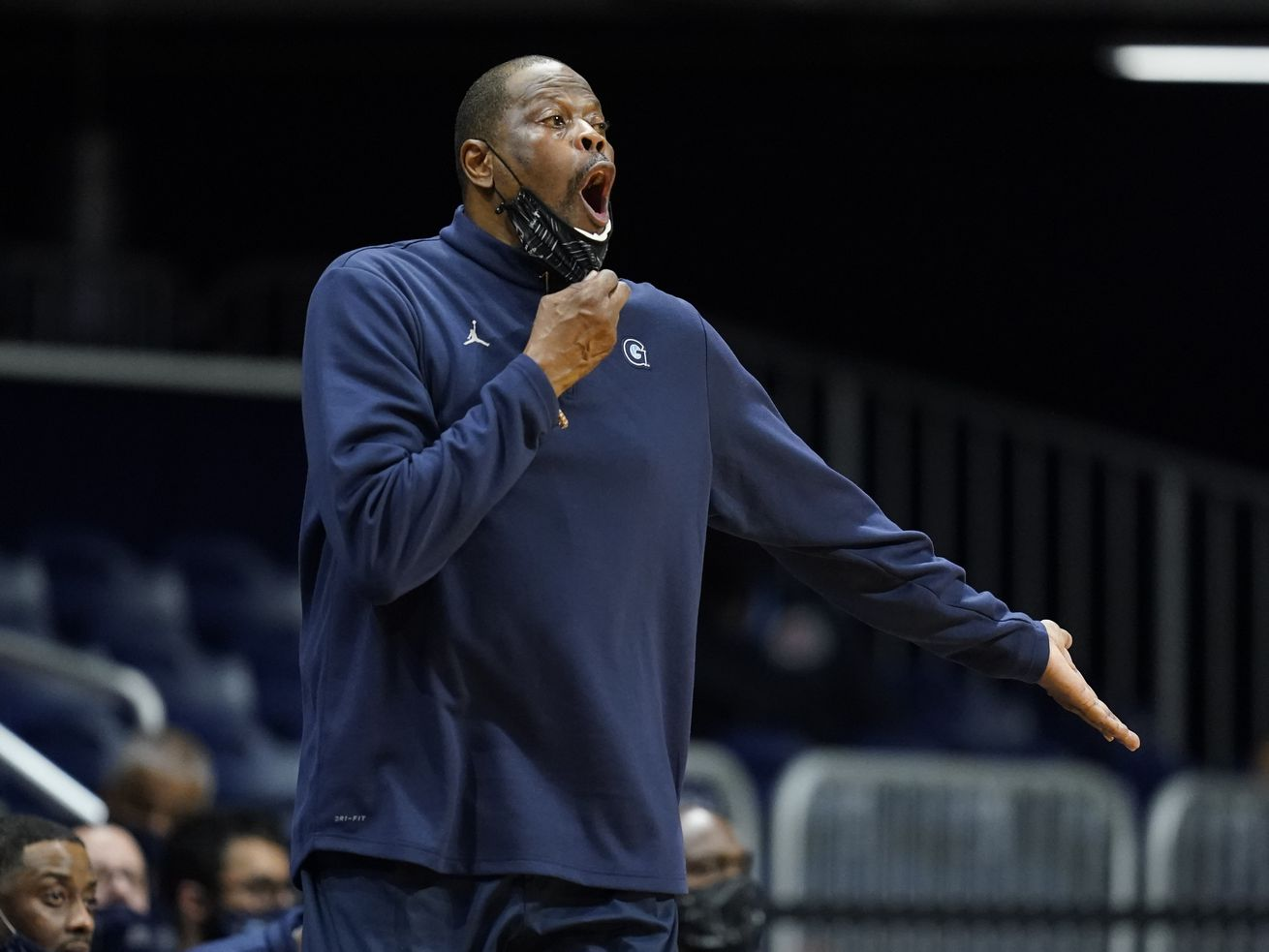 Georgetown coach Patrick Ewing will not lead his team against DePaul tonight.
