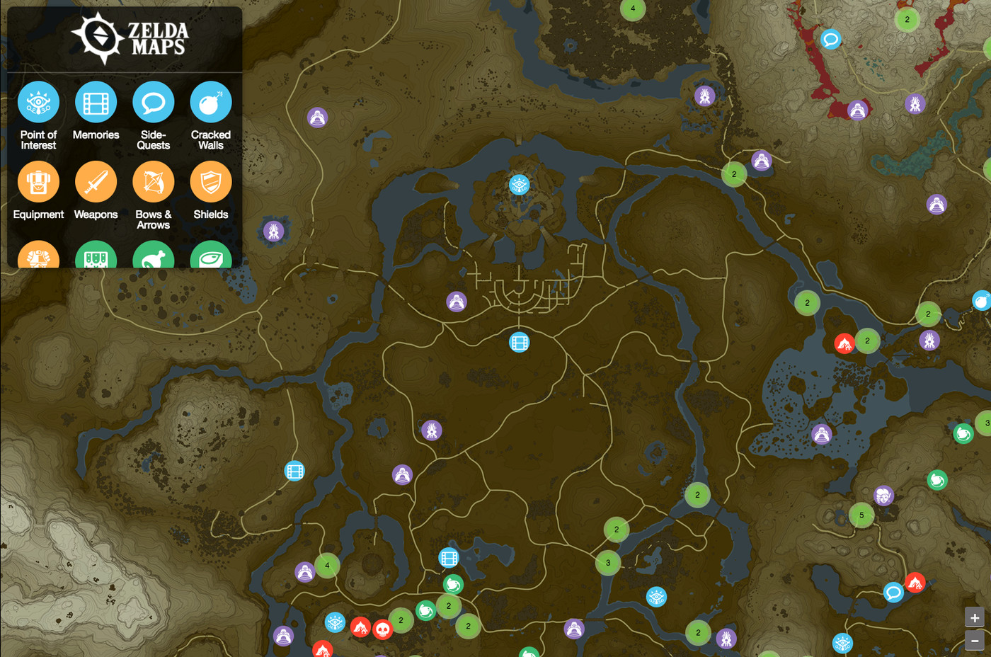 Fan-made Breath of the Wild interactive map aims to be the game\'s ...