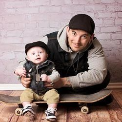 Brad Hancock, 23, was shot and killed outside of a concert in the parking lot of At The Core Nov. 15, 2014. Here, he is pictured with his son.