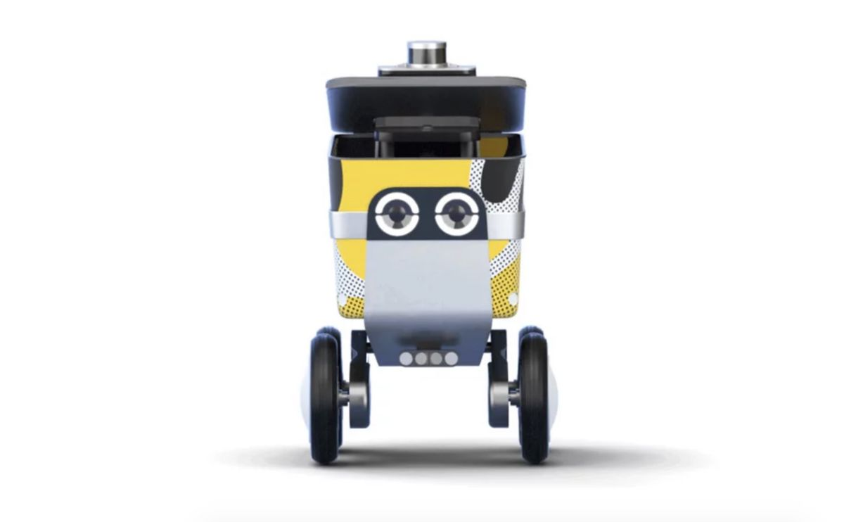 Rendering of robot with friendly eyes
