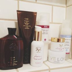 <b>Joanna Vargas</b> is a miracle worker – her Vitamin C Face Wash and Exfoliating are a must for me. I use the face wash daily and the exfoliator about once a week.<br><br>This Oribe volumizing shampoo and conditioner are a must for me. They keep my curl