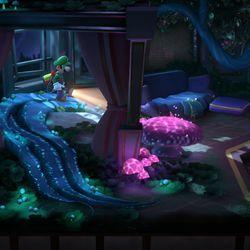 <em>Luigi's Mansion 3</em> 7F green gem location in the mushroom suite.