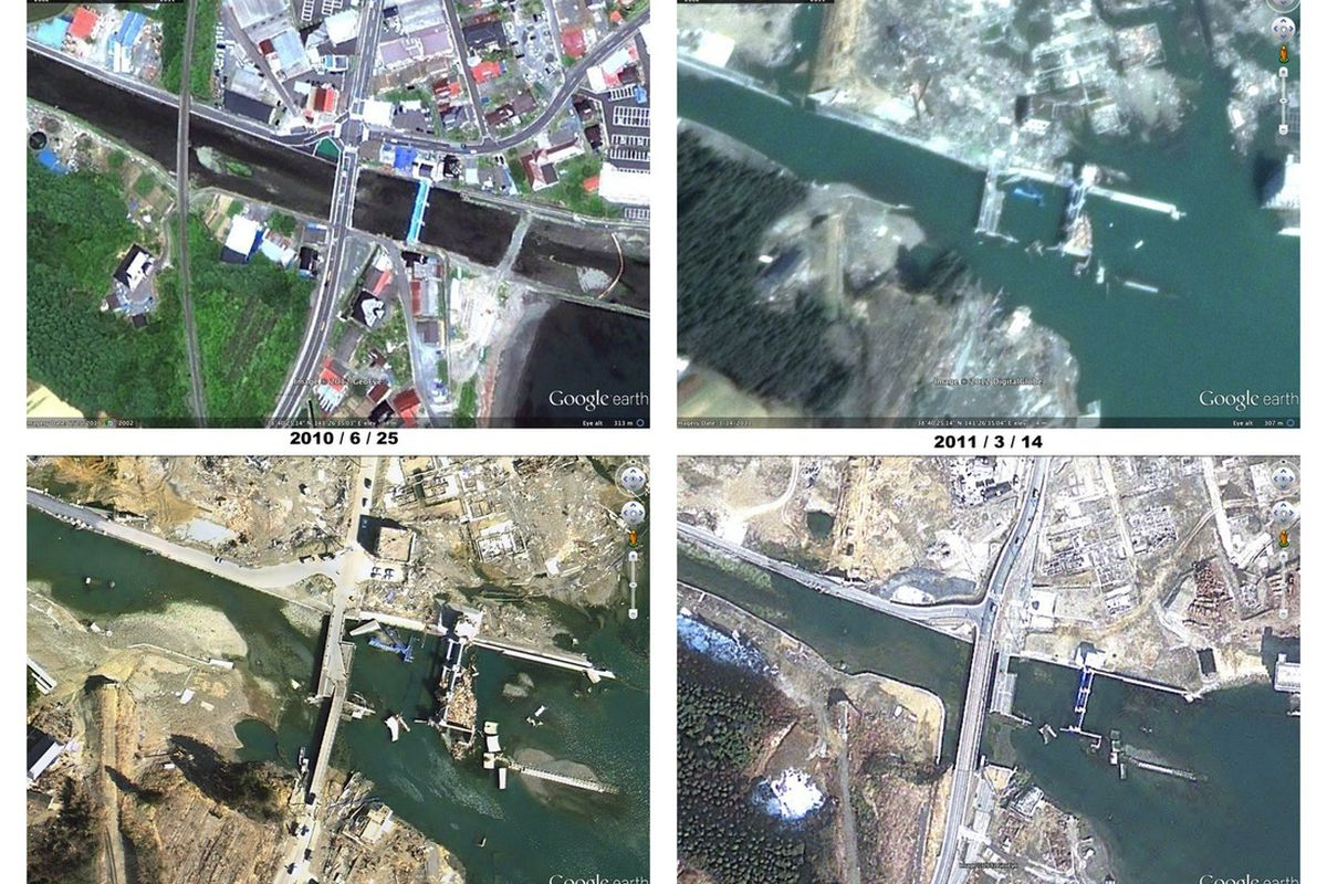 Google Maps Japan earthquake 2