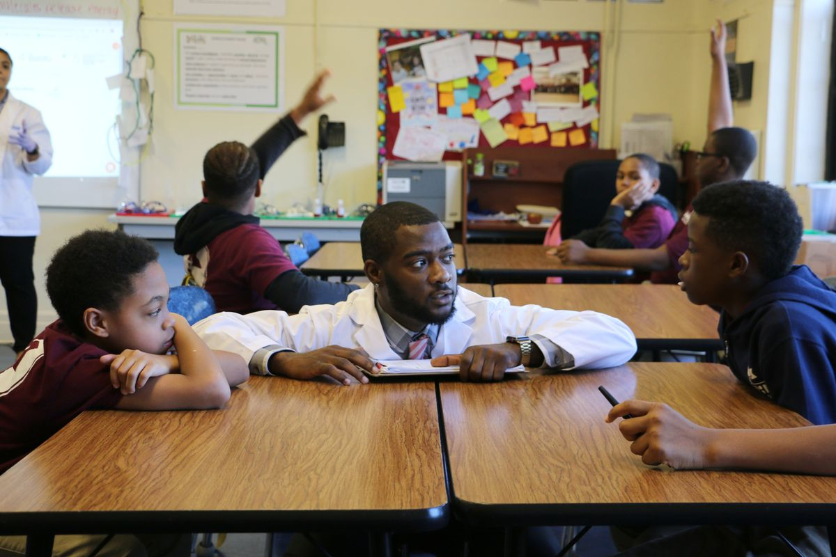 Yumar Wheeler attended TEAM Academy middle school over a decade ago. Today, he's back at the school training to become a teacher.