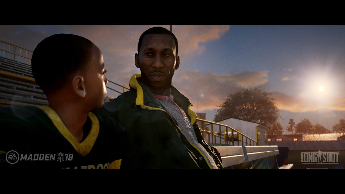 A High School Age Devin Wade Chats With His Father Cutter Mahershala Ali EA Tiburon Electronic Arts
