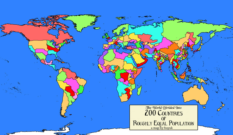 Heres What The World Would Look Like If Every Country Had The - World map of countries