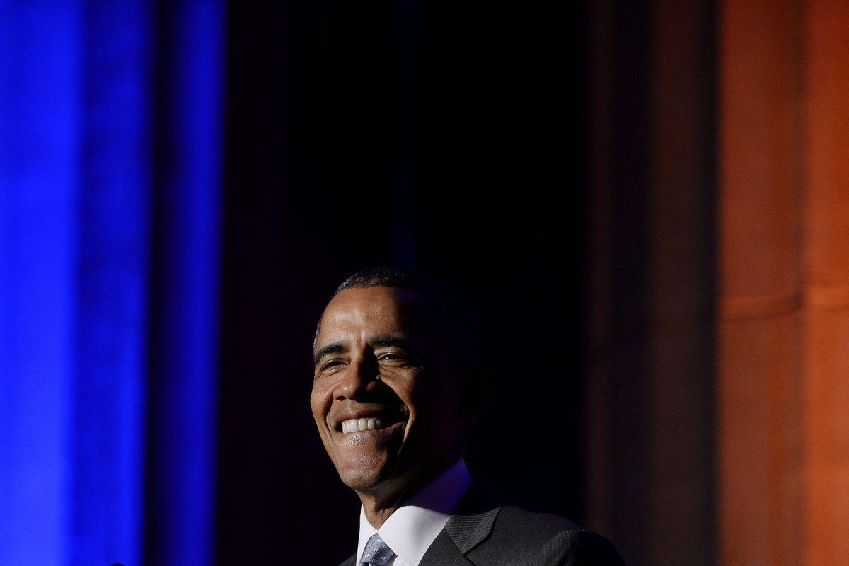 President Barack Obama Speaks At The Toner Prize For Excellence In Political Reporting Awards Dinner