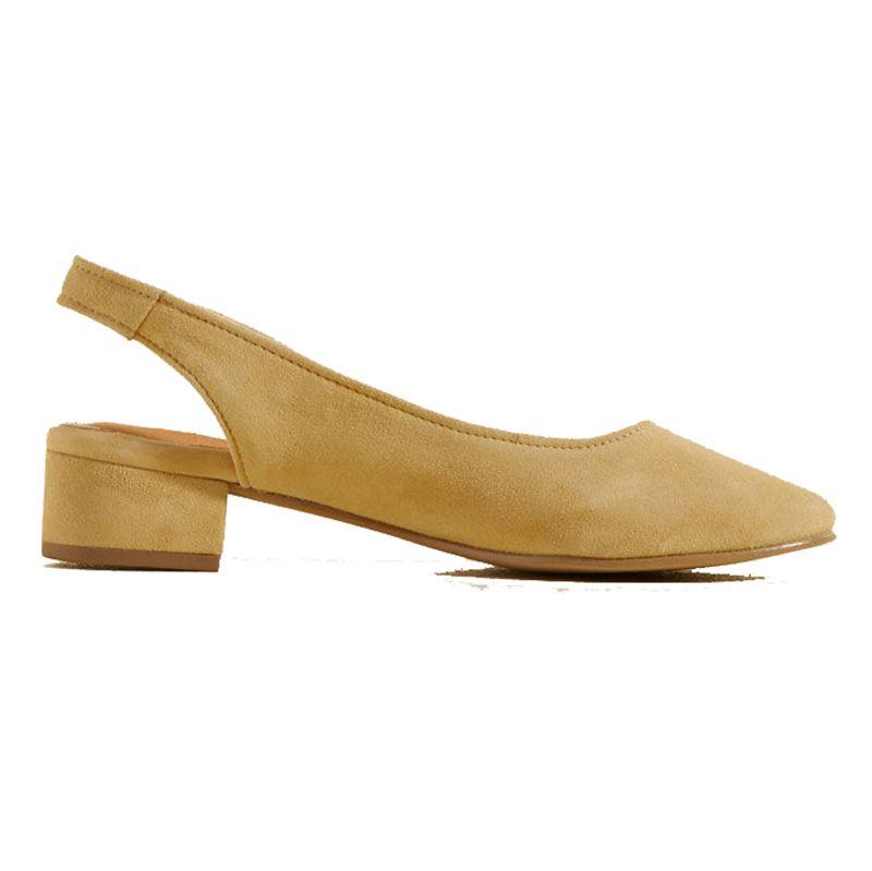 mustard slingback sandal