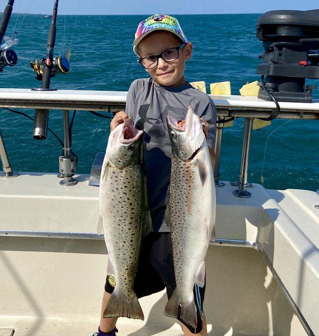 Chase Breen, 7, with bounty caught out of Waukegan. Provided phtoo