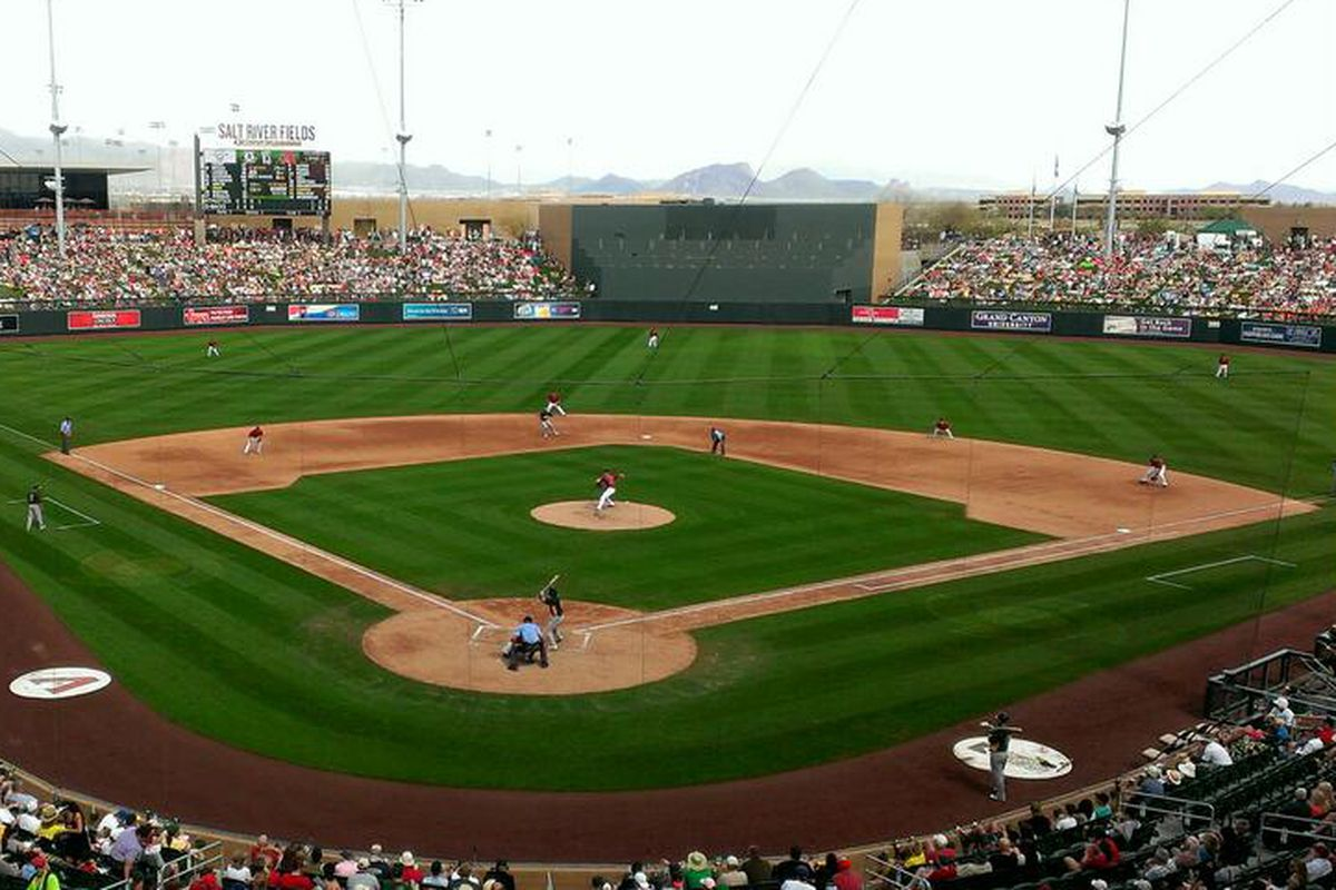 Another sellout at @SaltRiverFields to watch the #Dbacks
