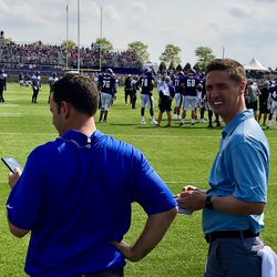 NFL Network well represented today - Tom Pelissaro and Ian Rappaport on hand for Vikings - Jags practice.