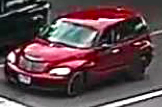 An image from surveillance cameras released by Chicago police of a Chrysler PT Cruiser that fatally struck 39-year-old Mister Lucky-Tyrone Pearson on July 26, 2019 in Back of the Yards.