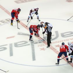 Backstrom and Duchene Faceoff To Begin