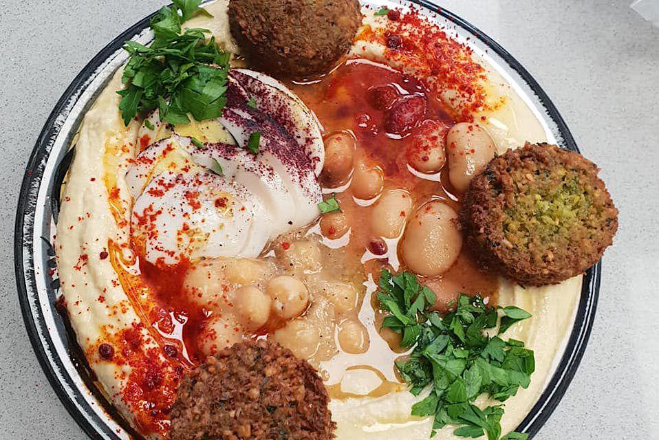 Falafel and hummus at Balady in west London