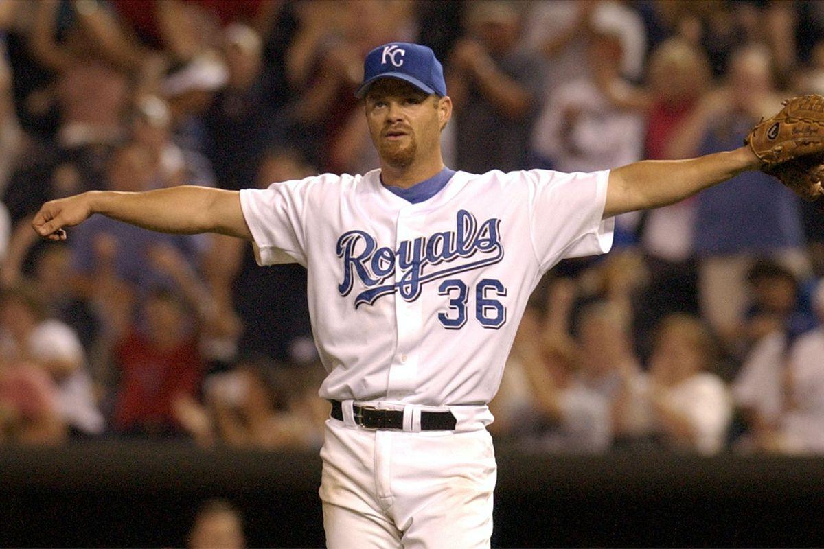 Kansas City Royals starting pitcher Paul Byrd flap