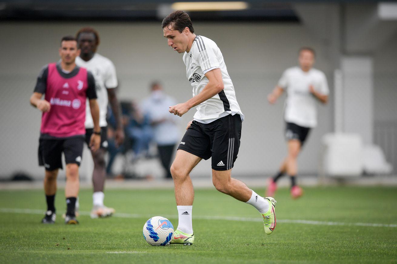 Federico Chiesa returns to training ahead of Milan clash