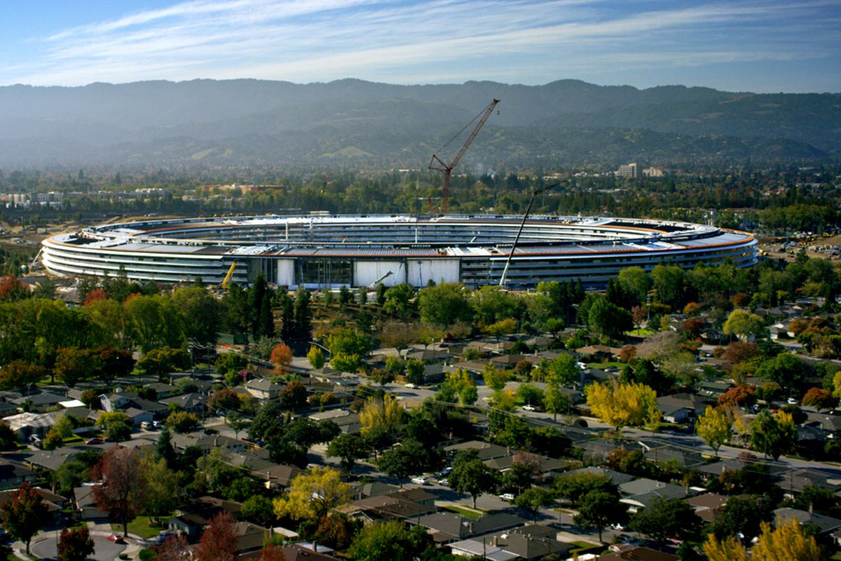 new apple office cupertino. Apple\u0027s Nearly Complete Campus In Cupertino, California. Apple New Office Cupertino