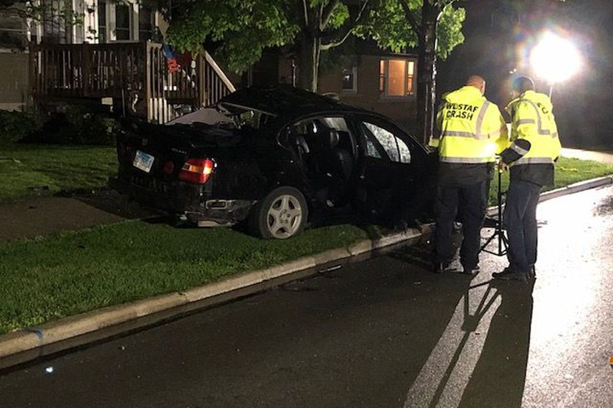 Passenger killed when car hits tree in Riverside - Chicago