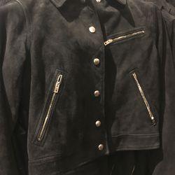 Suede jacket, $495