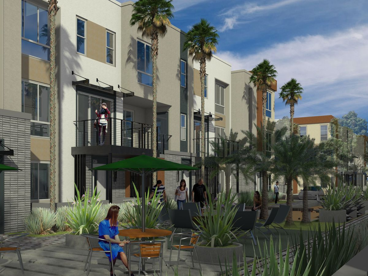 CitySquare, a planned net-zero-energy development in Irvine, California.