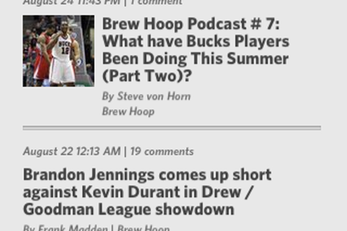 Here is the SB Nation iPhone app in action.