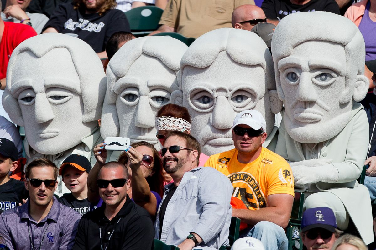 The Presidents are also Rockies fans, apparently.