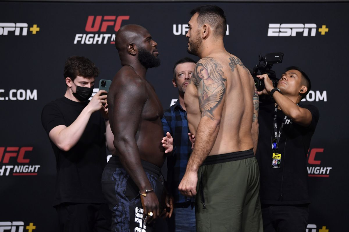 Jairzinho Rozenstruik and Augusto Sakai at UFC Vegas 28